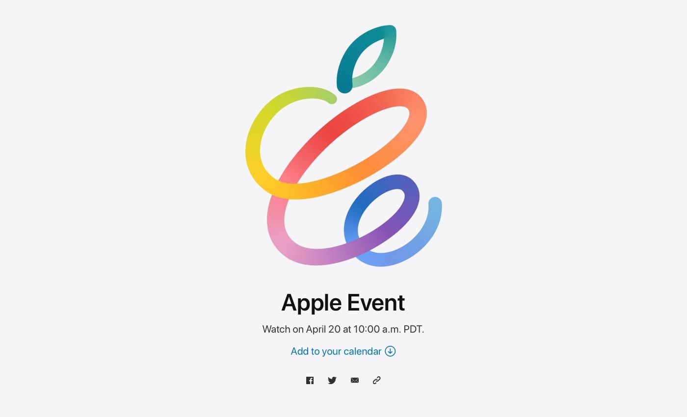 「Apple Event」、日本時間4月21日(水)午前2時より開催