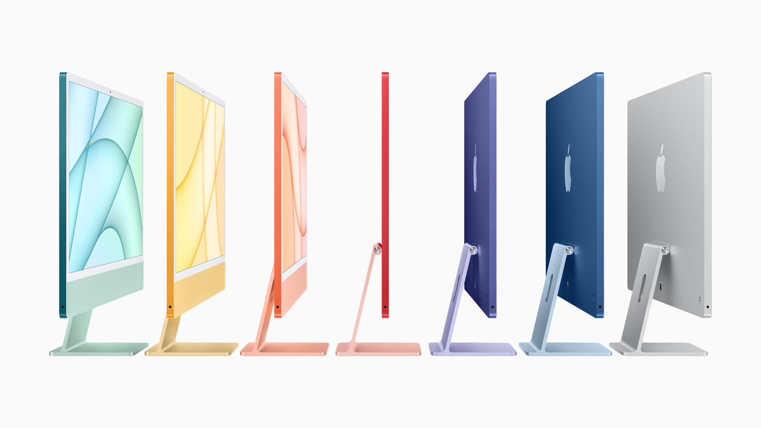 M1チップ搭載の24インチ「iMac」発表