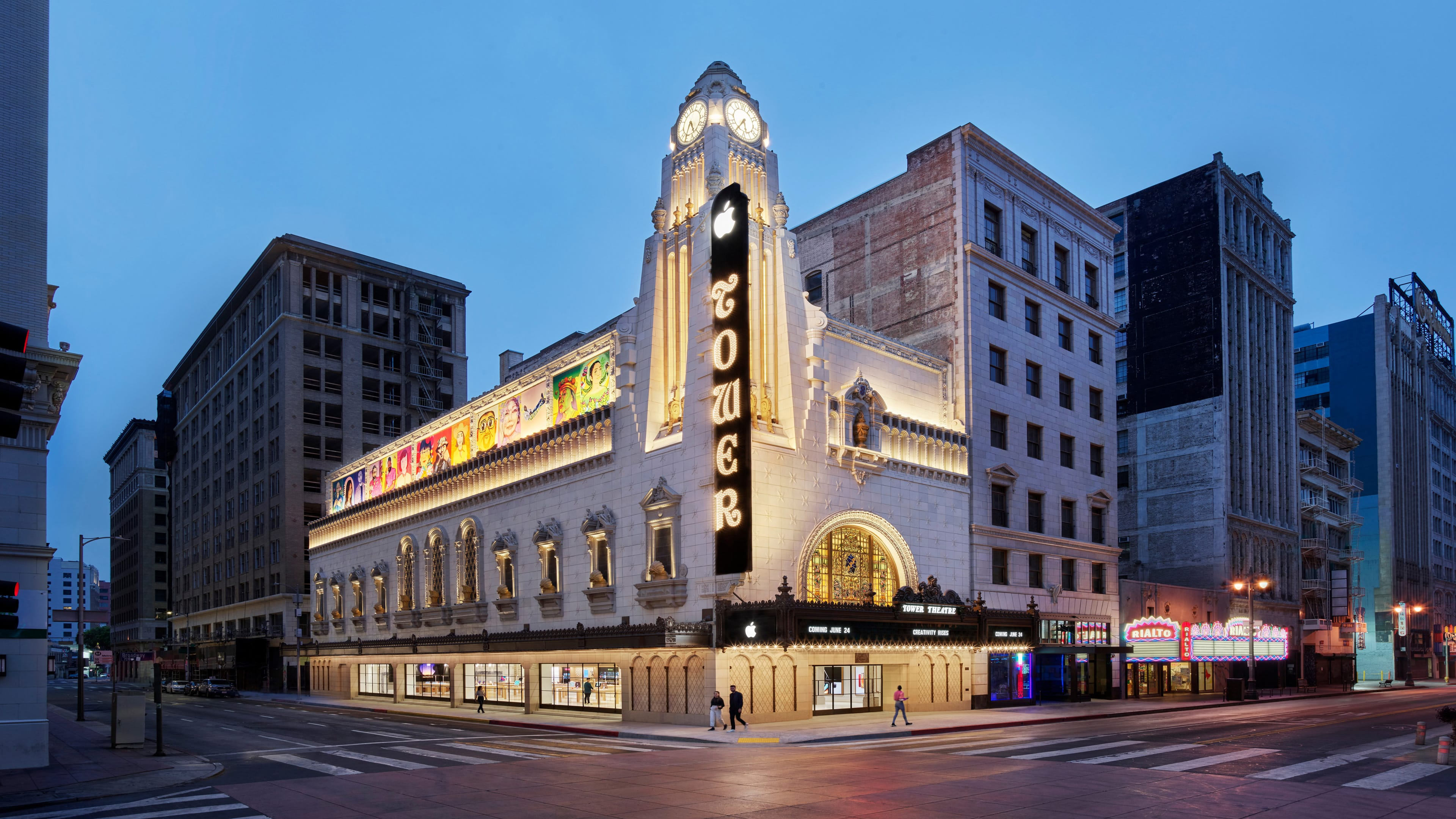 Apple、ロサンゼルスに新しい直営店「Apple Tower Theatre」をオープン