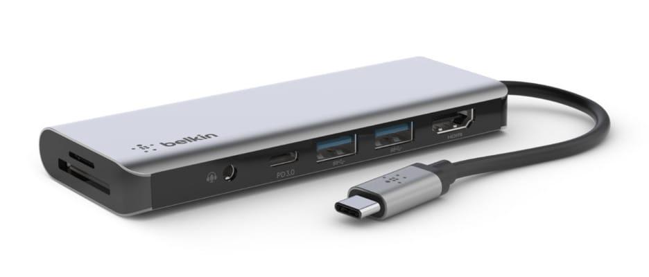 ベルキン、7-in-1 USB-Cドック発売