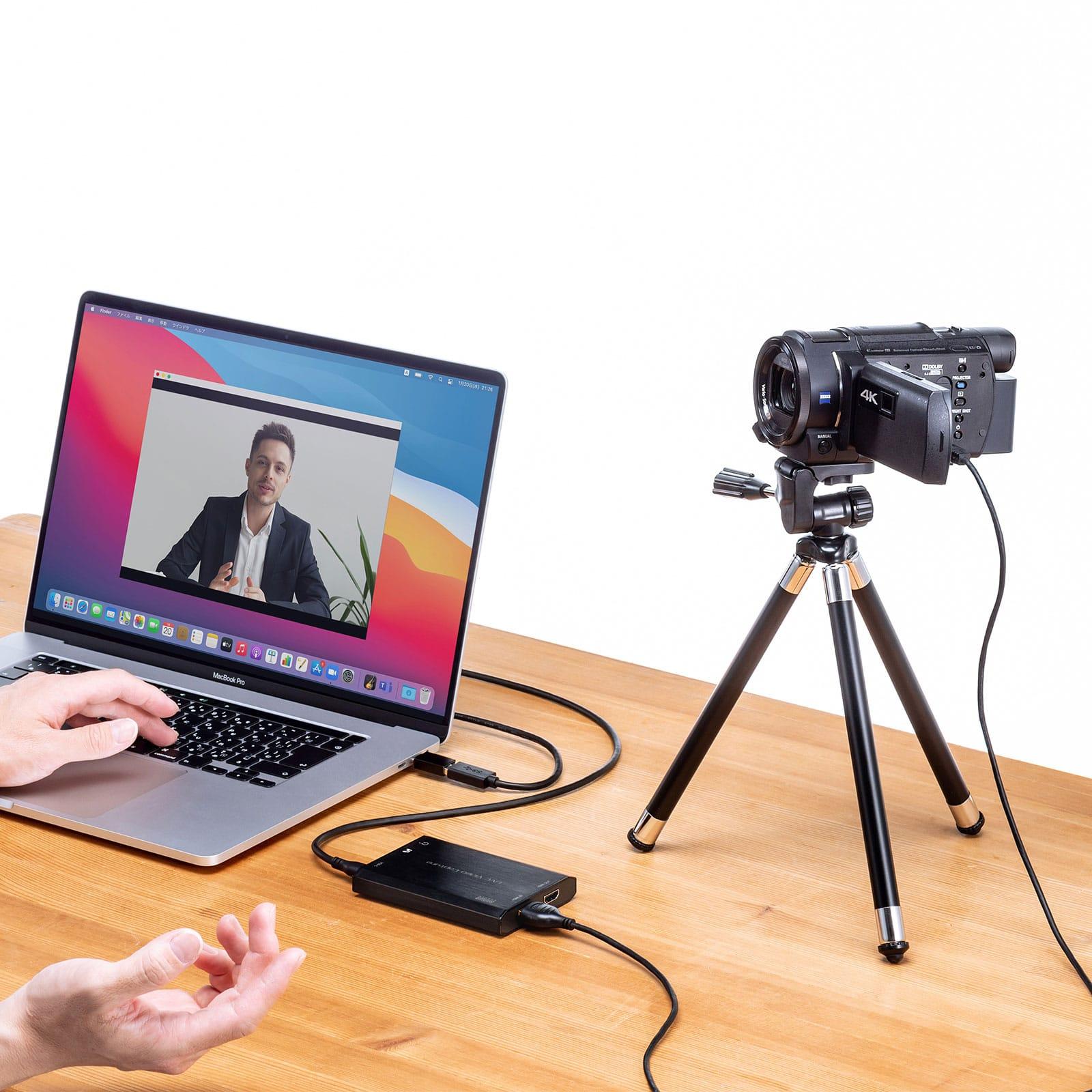 サンワサプライ、デジカメ&ビデオカメラをウェブカメラ化できるHDMIキャプチャーアダプタ発売