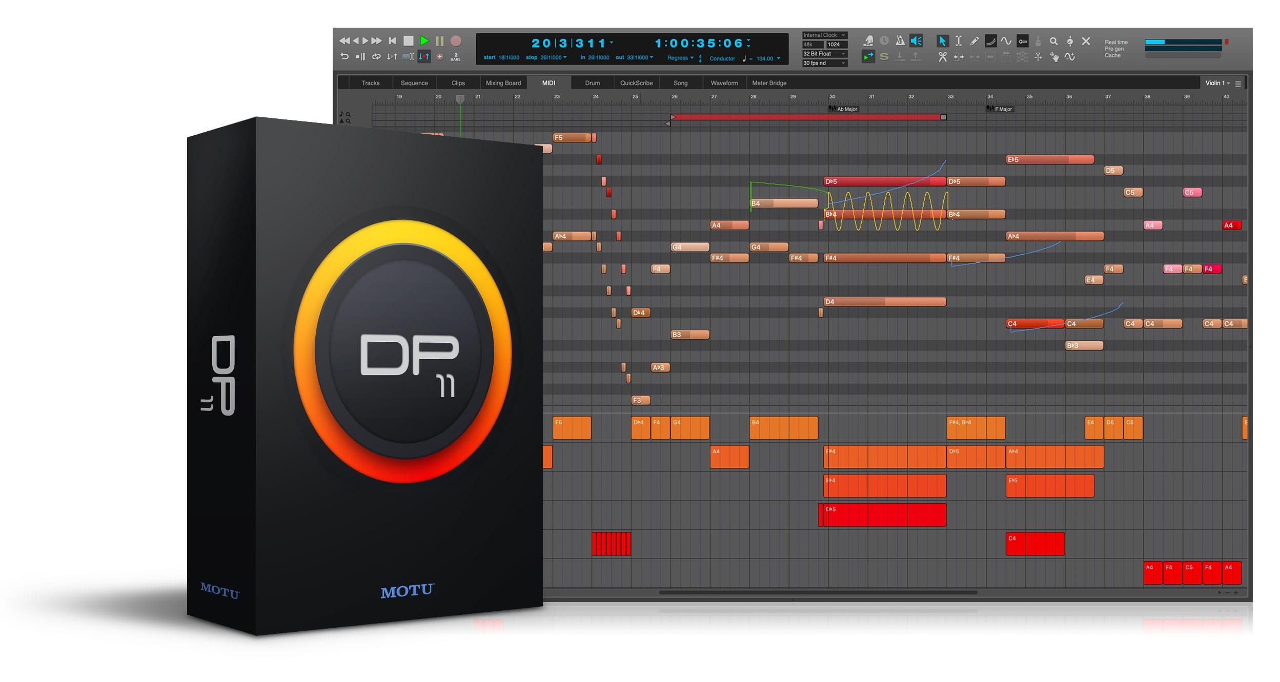 MOTU、音楽制作ソフトウェア「Digital Performer 11」をリリース