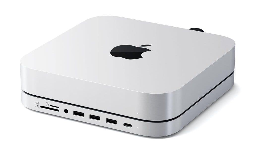 Satechi、M.2 SATA SSDを追加できるMac mini用スタンド&ハブ発売