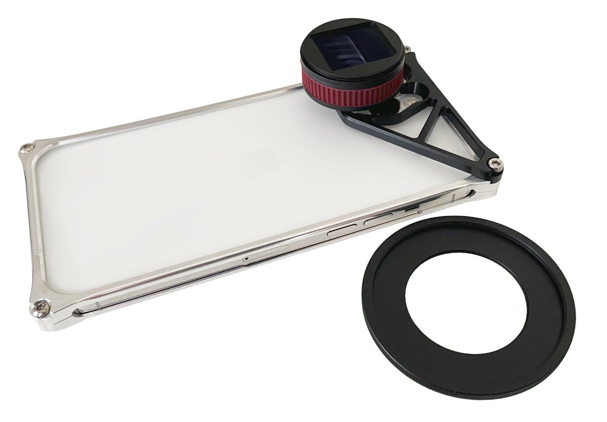 iPhone 12 Pro/Max用Solid Bumperに取り付けられるアタッチメントレンズ「USHADOW X1」用マウント発売