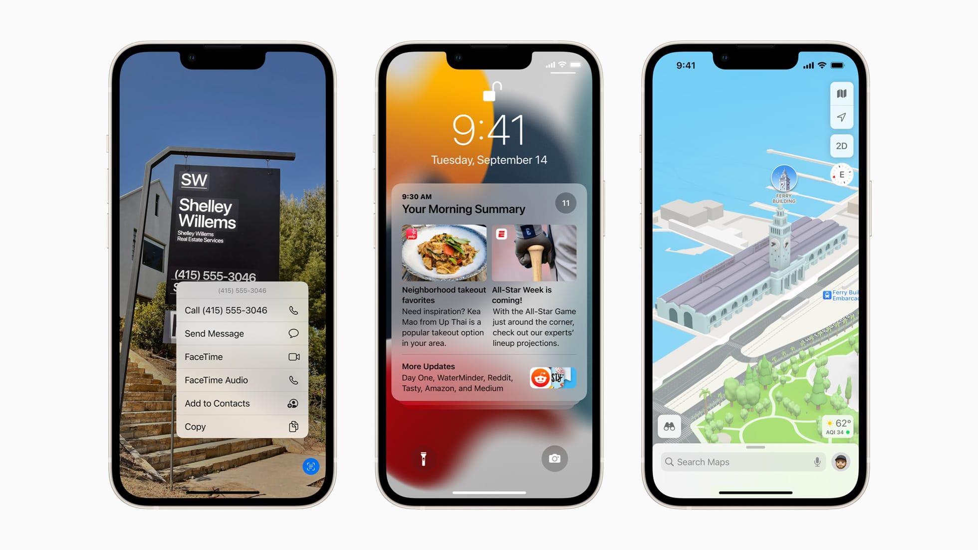 Apple、「iOS 15」「iPadOS 15」「watchOS 8」「tvOS 15」をリリース