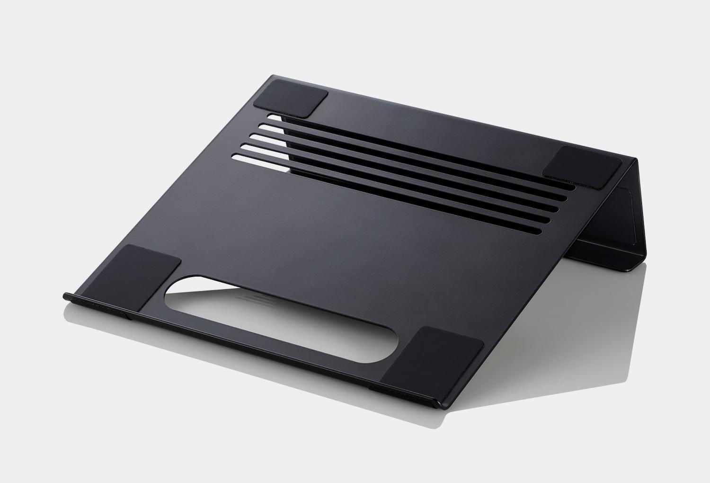 エレコム、横置きと縦置き対応のノートPC用スタンド発売
