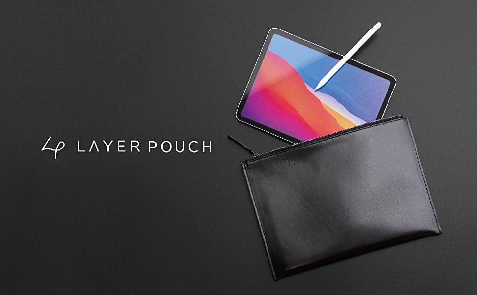 asobozeのiPad用ポーチ「Layer Pouch」に本革タイプ登場