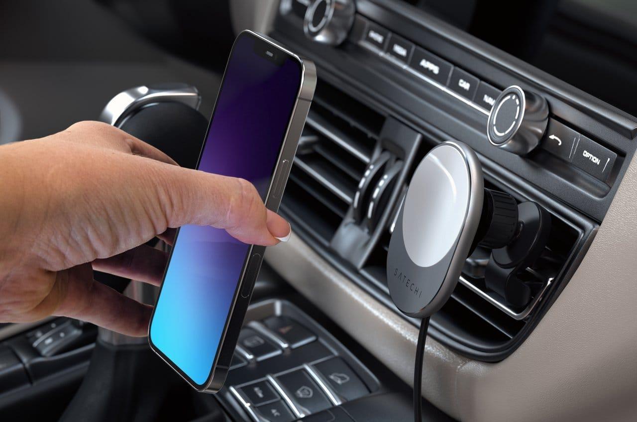 Satechi、車載用磁気ワイヤレス充電器発売
