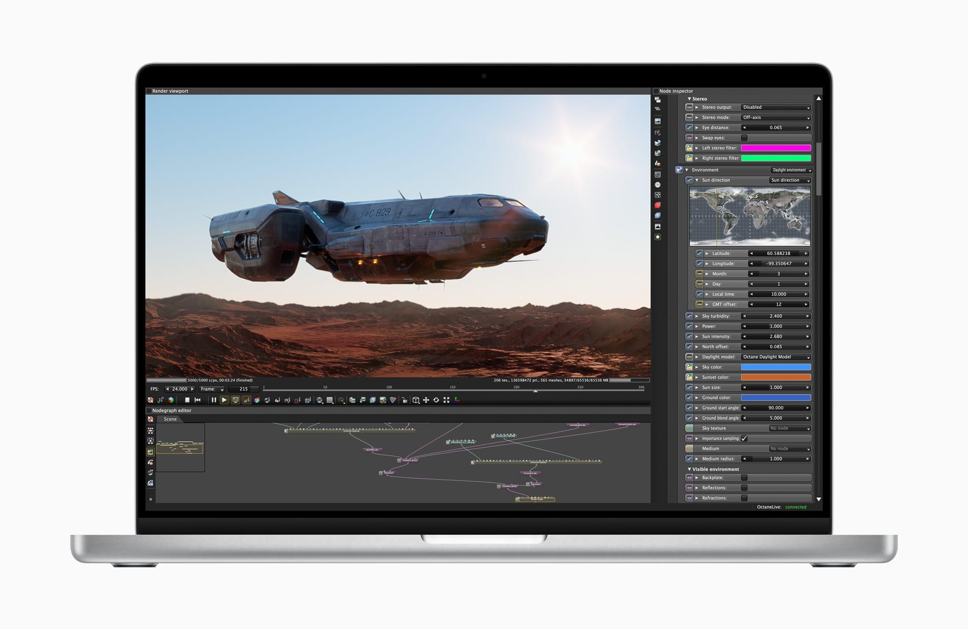 新しいMacBook Pro、アプリのフルスクリーンモードではノッチが目立たない表示に